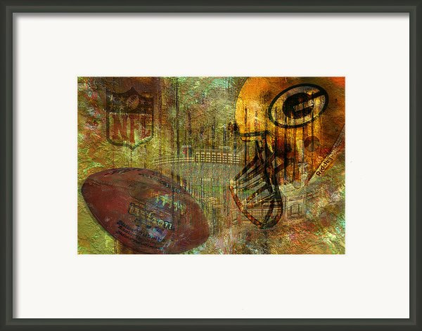 Greenbay Packers Framed Print By Jack Zulli