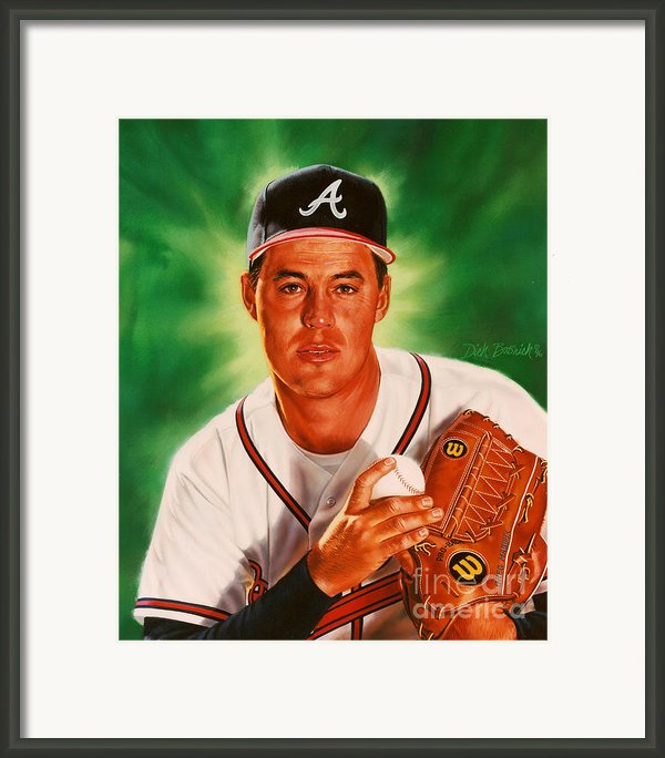 Greg Maddux Framed Print By Dick Bobnick