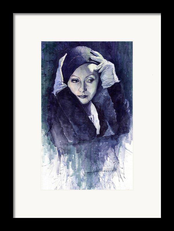 Greta Garbo Framed Print By Yuriy  Shevchuk