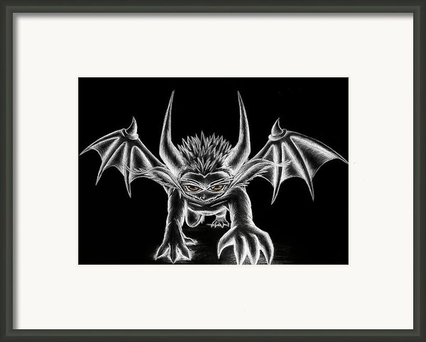 Grevil Chalk Framed Print By Shawn Dall