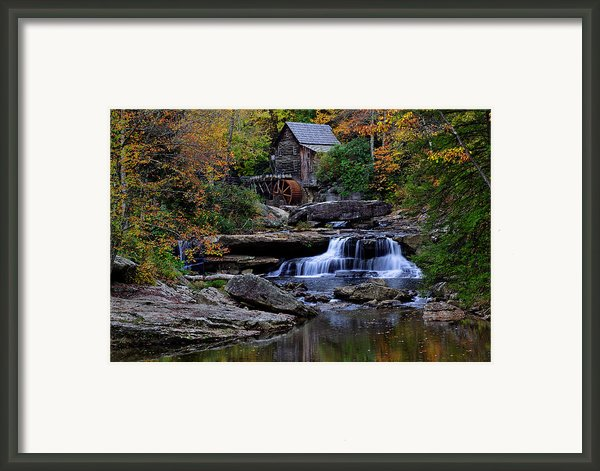 Grist Mill Falls Framed Print By Lone  Dakota Photography