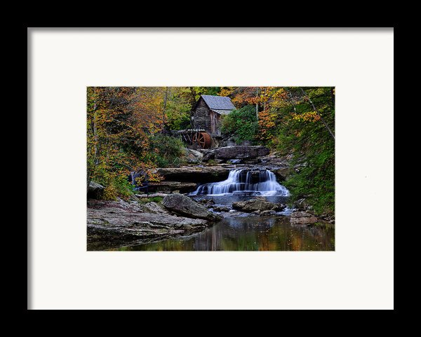 Grist Mill Falls Framed Print By Lone  Dakota Photography