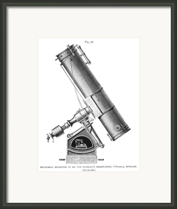 Grubb Equatorial Telescope, Hungary Framed Print By Science Photo Library