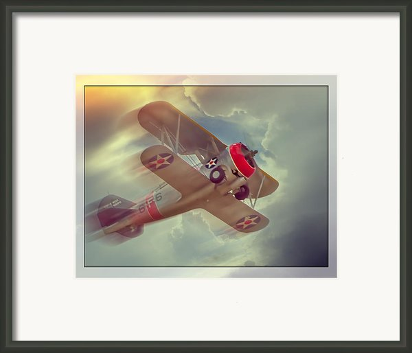 Grumman F3f Framed Print By Steve Benefiel