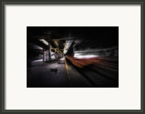Grunge Art Part Iii - Runaway Train Framed Print By Erik Brede