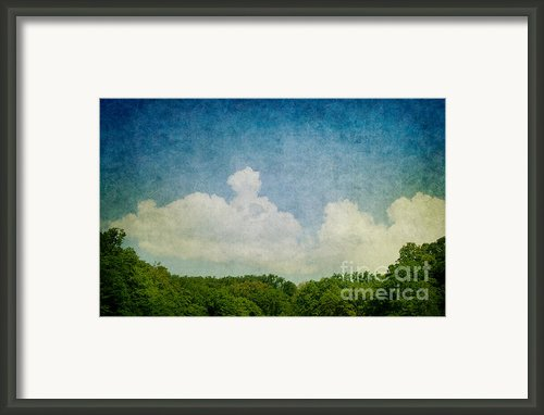 Grunge Background With Landscape Framed Print By Mythja  Photography