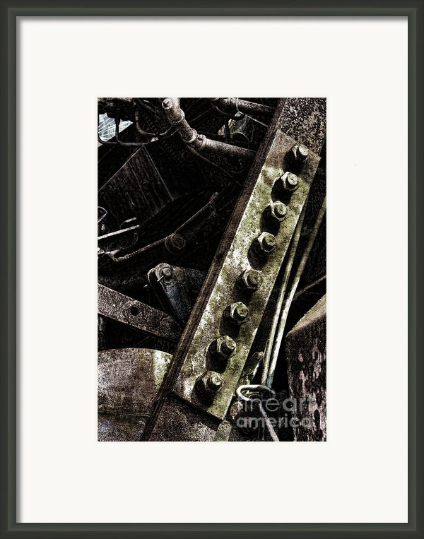 Grunge Industrial Machinery Framed Print By Olivier Le Queinec