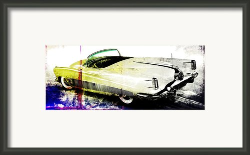 Grunge Retro Car Framed Print By David Ridley