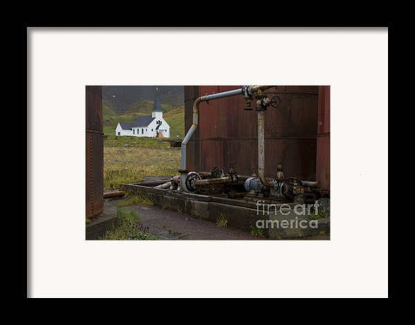 Grytviken, South Georgia Framed Print By John Shaw