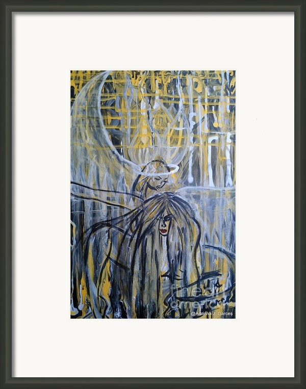 Guardian Whisper Framed Print By Adriana Garces