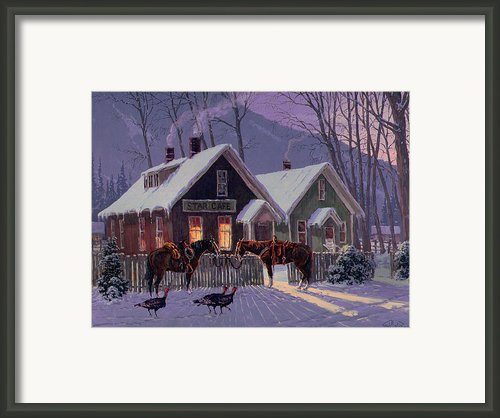 Guest For Dinner Framed Print By Randy Follis