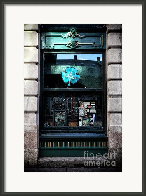 Guinness Shamrock Framed Print By John Rizzuto