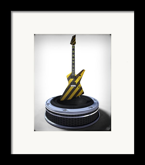 Guitar Desplay V3 Framed Print By Frederico Borges