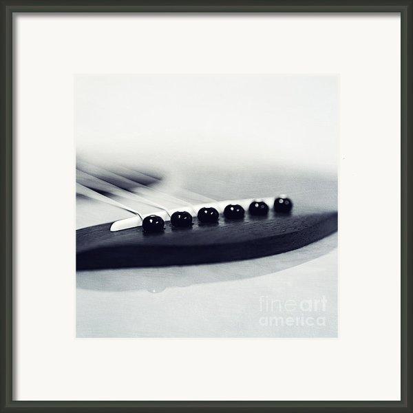 Guitar Ii Framed Print By Priska Wettstein