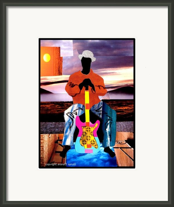 Guitar Man Framed Print By Everett Spruill