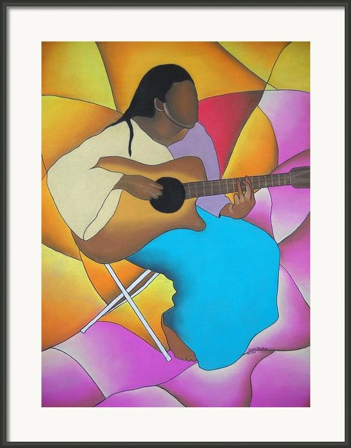 Guitar Player Framed Print By Sonya Walker