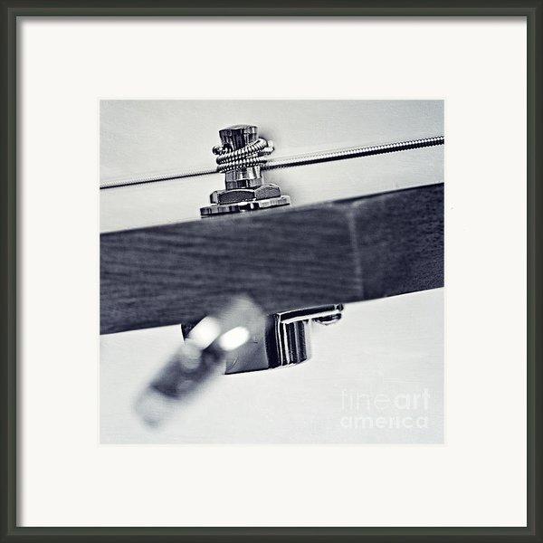 Guitar V Framed Print By Priska Wettstein