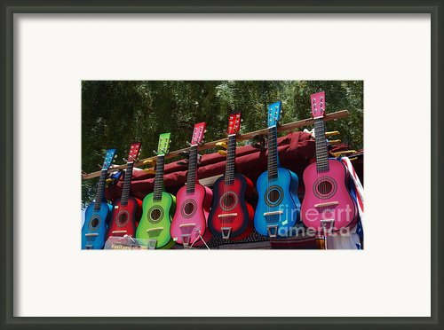 Guitars In Old Town San Diego Framed Print By Anna Lisa Yoder