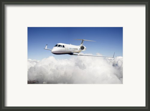 Gulfstream G-450 Framed Print By Larry Mcmanus