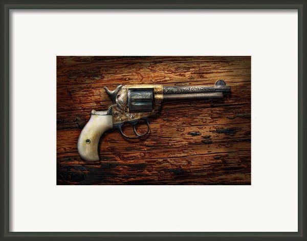 Gun - Police - True Grit Framed Print By Mike Savad
