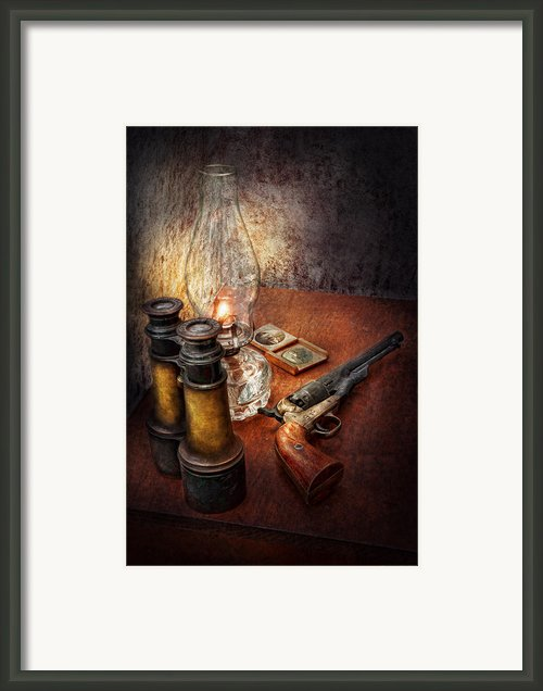 Gun - The Adventures Code  Framed Print By Mike Savad