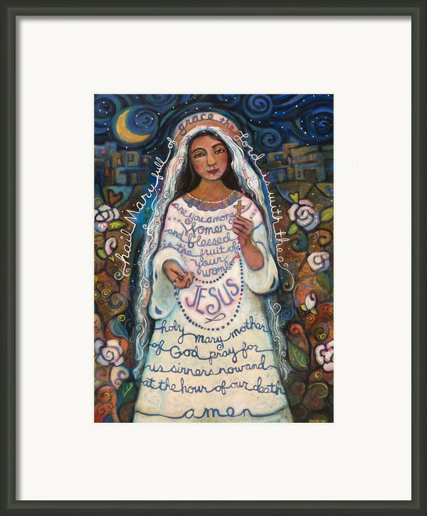 Hail Mary Framed Print By Jen Norton