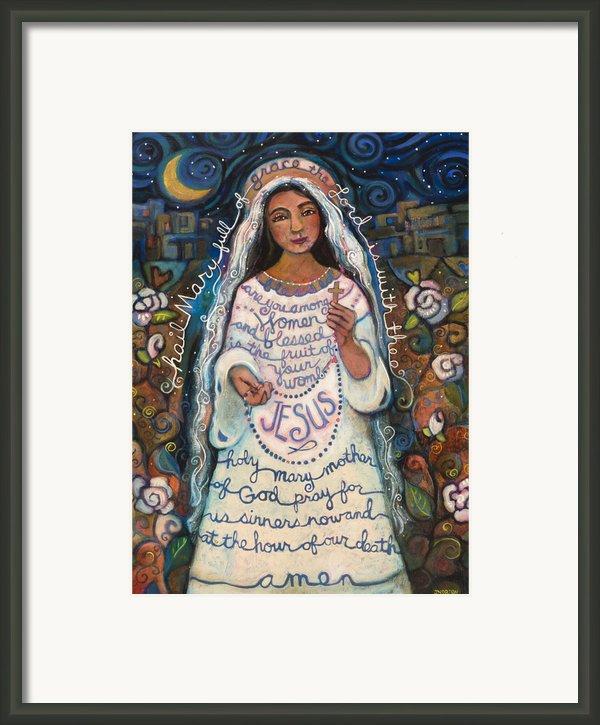Hail Mary Framed Print By Jen Norton