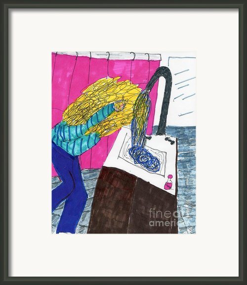 Hair Wash Framed Print By Elinor Rakowski