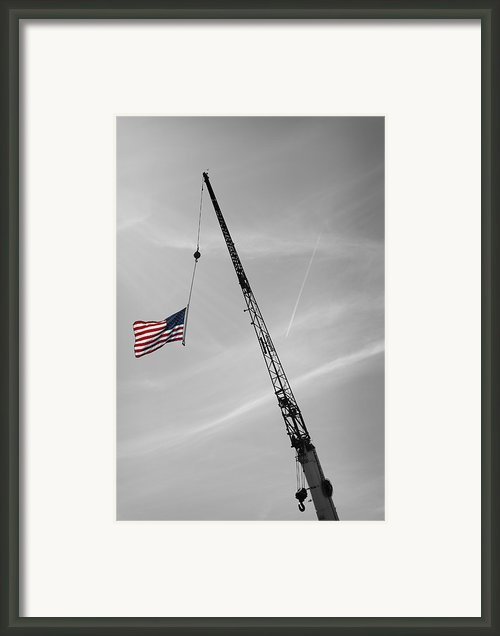 Half-mast Framed Print By Luke Moore