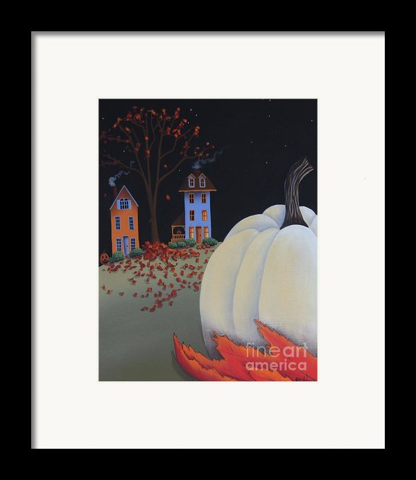 Halloween On Pumpkin Hill Framed Print By Catherine Holman
