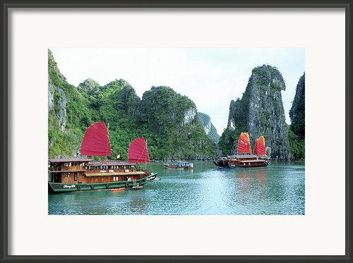 Halong Bay Sails 04 Framed Print By Rick Piper Photography