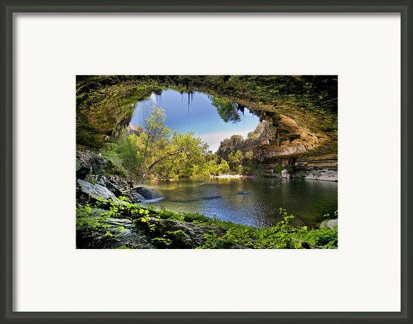 Hamilton Pool Framed Print By Lisa  Spencer