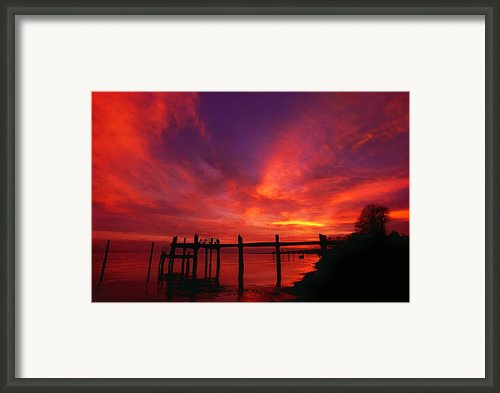 Hampton Roads Sunset Framed Print By Abeautifulsky  Photography