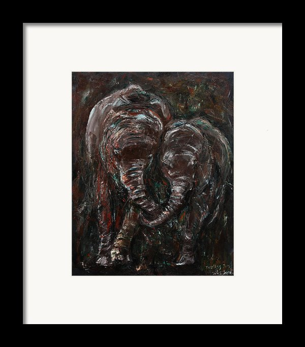 Hand In Hand Framed Print By Xueling Zou