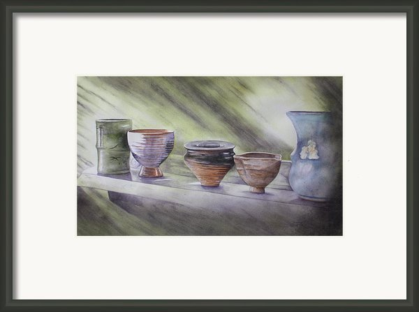 Hand Thrown Framed Print By Patsy Sharpe