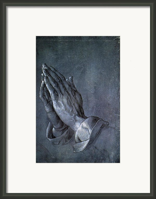 Hands Of An Apostle 1508 Framed Print By Albrecht Durer