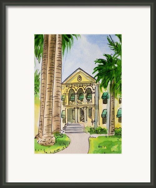 Hanford - California Sketchbook Project Framed Print By Irina Sztukowski