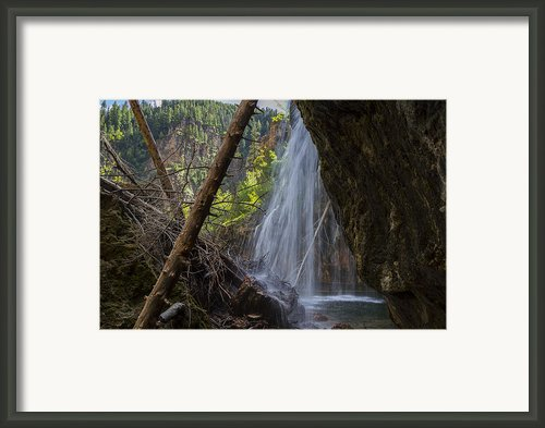 Hanging Lake Falls Framed Print By Michael J Bauer
