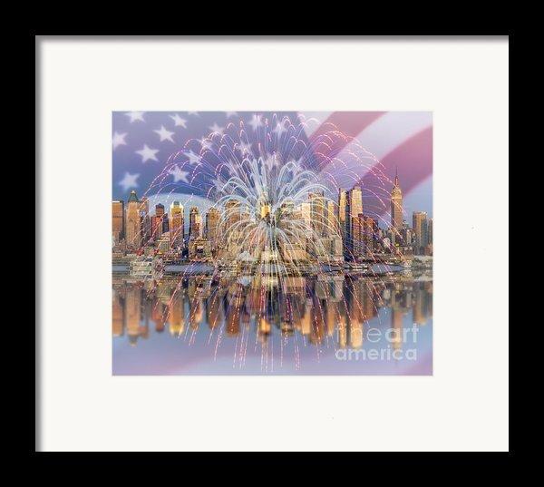 Happy Birthday America Framed Print By Susan Candelario