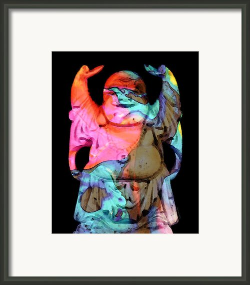 Happy Buddha 2 - Zen Art Framed Print By Sharon Cummings