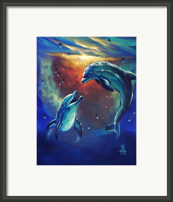 Happy Dolphins Framed Print By Marco Antonio Aguilar