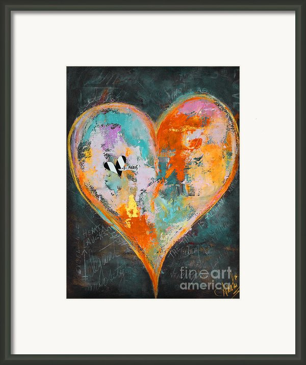Happy Heart Abstracted Framed Print By Anahi Decanio