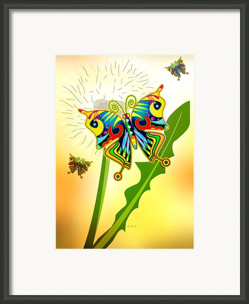 Happy Hippie Butterflies Framed Print By Bob Orsillo