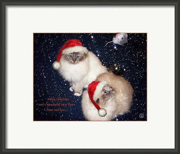 Happy Holidays Framed Print By Gun Legler
