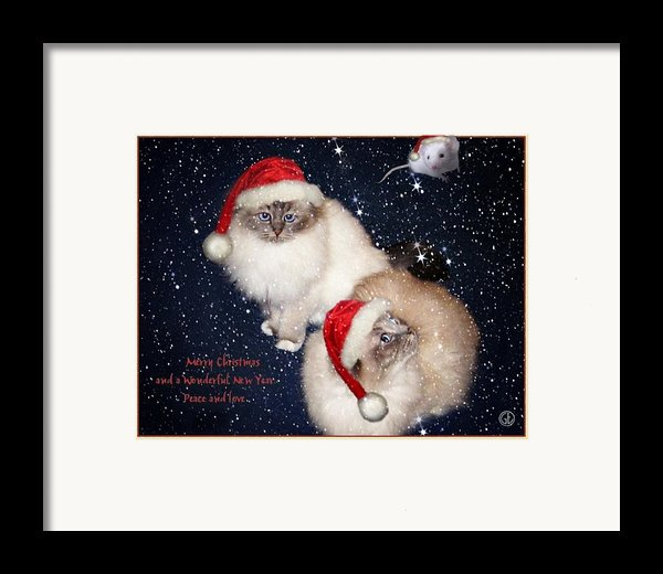 Happy Holidays Framed Print By Gun Legler