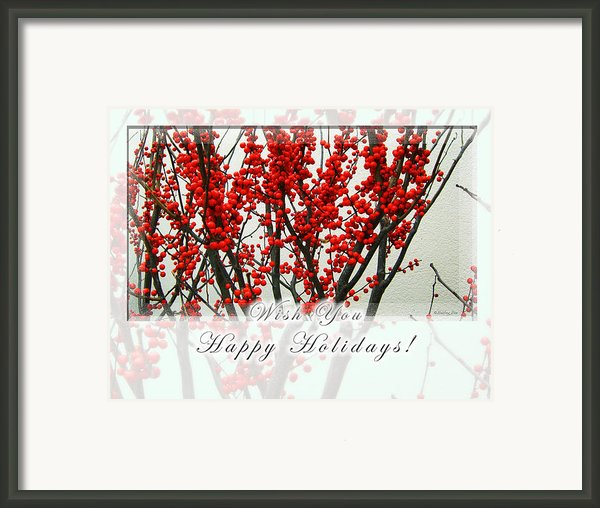 Happy Holidays Framed Print By Xueling Zou