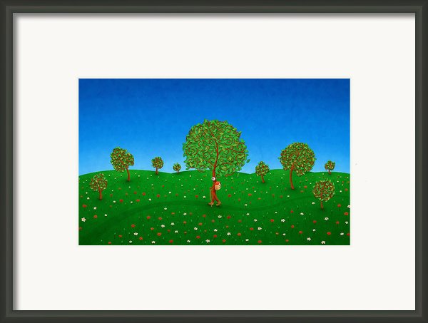 Happy Walking Tree Framed Print By Sanely Great
