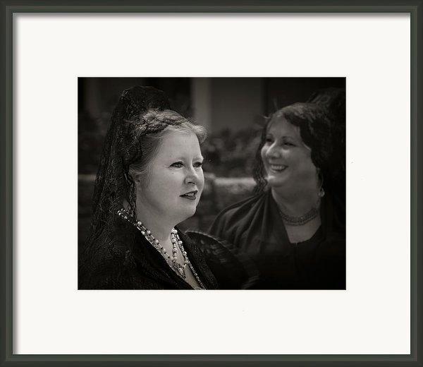 Happy Widows Framed Print By Mario Celzner