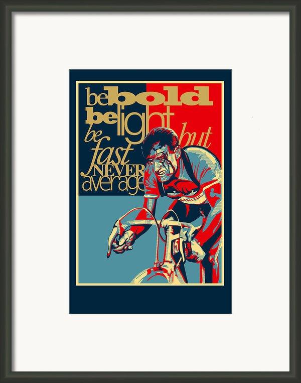 Hard As Nails Vintage Cycling Poster Framed Print By Sassan Filsoof