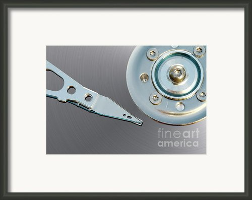 Hard Disc Framed Print By Michal Boubin